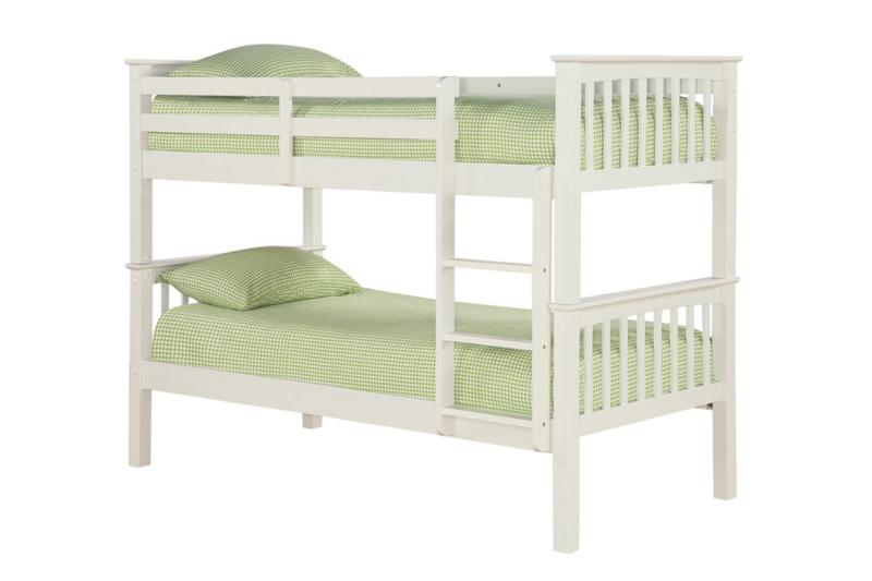 Leo Off White Wooden Bunk Beds